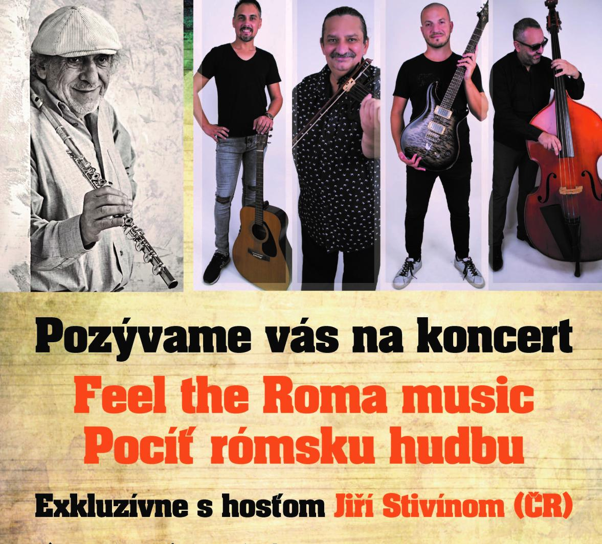 picture KONCERT: POCÍŤ RÓMSKU HUDBU / FEEL THE ROMA MUSIC